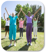 Image of women's group yoga class
